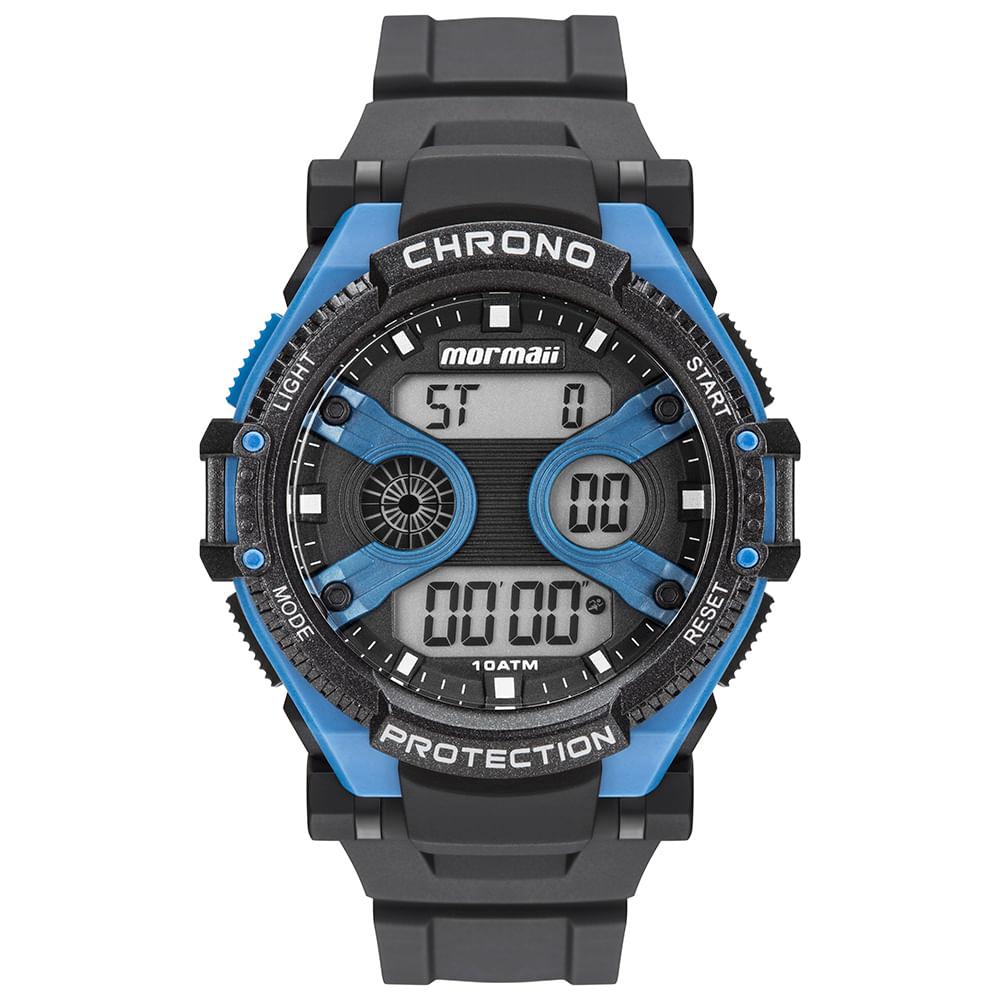 Relógio Mormaii Masculino Acqua Preto MO8590AA 8A - mormaiishop 3b9e171231