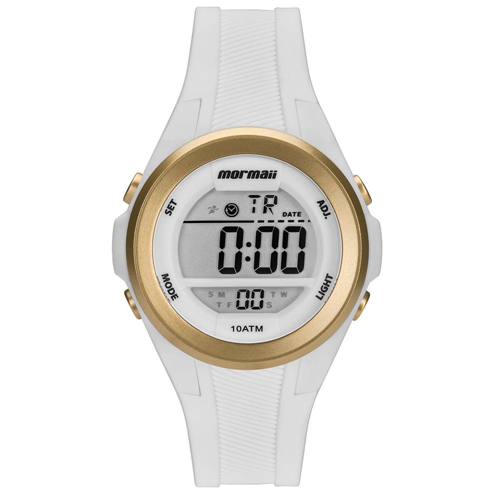 Relógio Mormaii Feminino Maui Branco MO3800AA 8B - mormaiishop f99faf759b