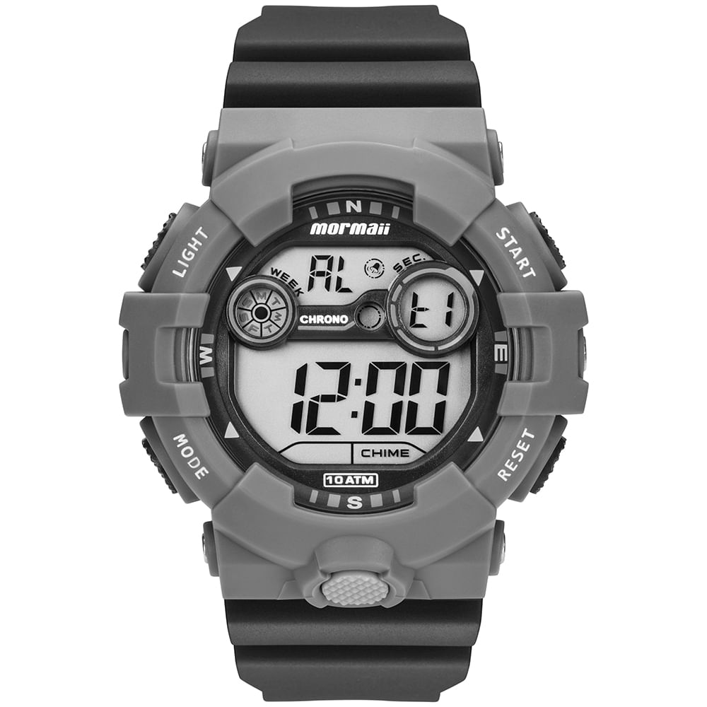 Relógio Mormaii Masculino Acqua Cinza MO3610AB 8C - mormaiishop 3cc725eb6e