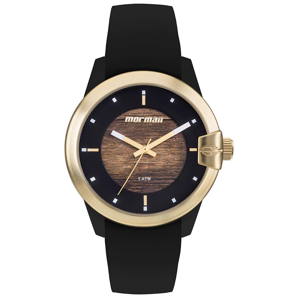Relógio Mormaii Feminino Wood Dourado MO2035JL 8M - mormaiishop 59f2173004