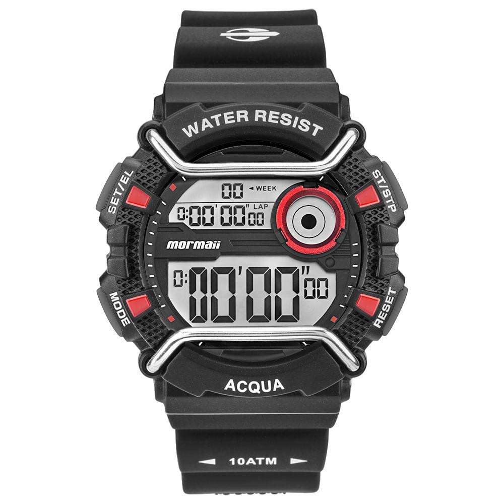 6166ca3f63a68 Relógio Mormaii Masculino Acqua Preto MONXD 8R - mormaiishop