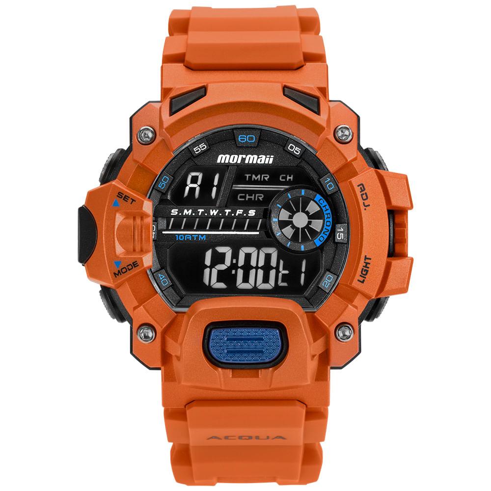 e89216b9c8c Relógio Mormaii Masculino Acquaforce Laranja MOZM1132 8L - mormaiishop