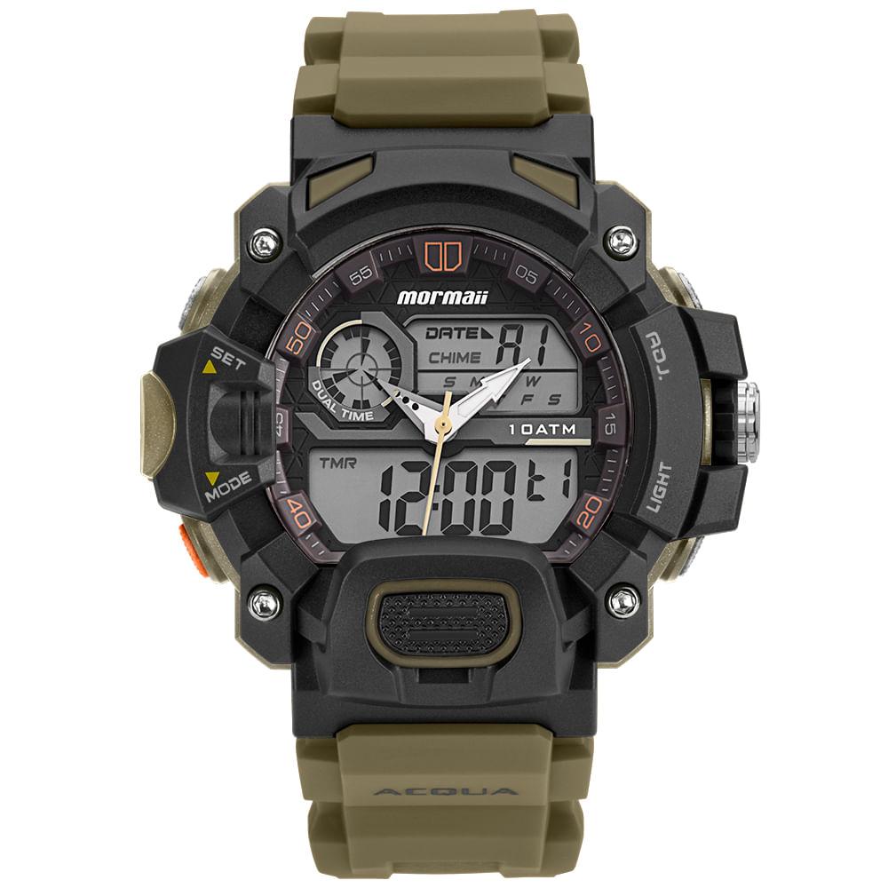 Relógio Mormaii Masculino Acquaforce Verde MOAD1132 8V - mormaiishop 937658d105
