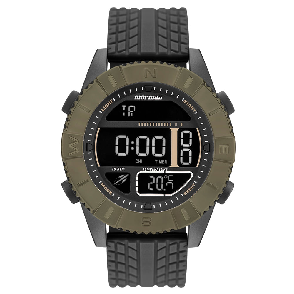 Relógio Mormaii Masculino Acquaforce Verde MO5334AB 8V - mormaiishop 107412c0b8