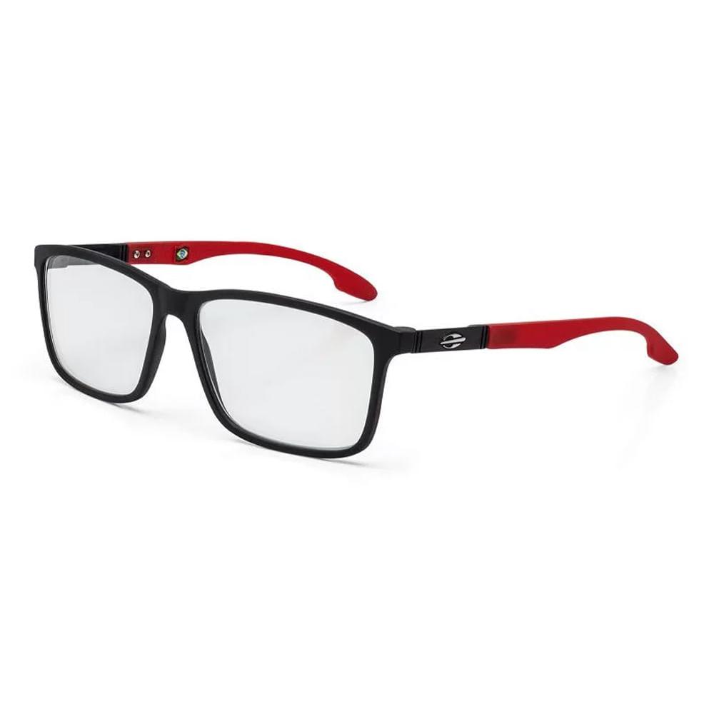 Óculos de grau mormaii prana preto fosco com vermelho - mormaiishop 666c9f91af