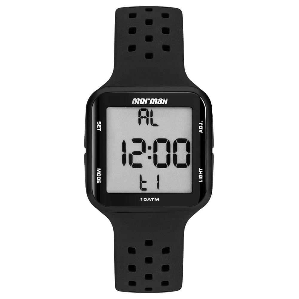 7c5b3dea003 Relógio Mormaii Unissex Wave Preto MO6600 8P - mormaiishop