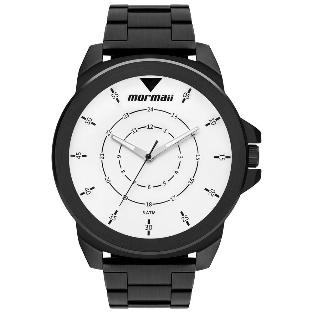 1fb85fc224457 Relógio Mormaii Masculino Interestelar Preto MO2035JR 4P - mormaiishop