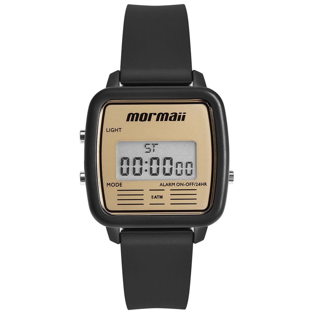 Relógio Mormaii Unissex Vintage Preto MOJH02AV 8D - mormaiishop 9ef2a0d4d2