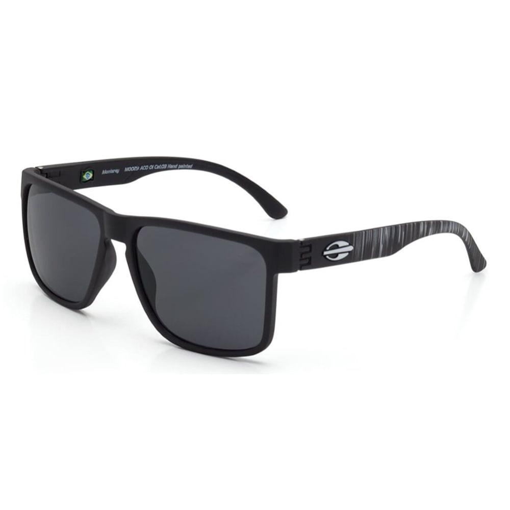 d1171fabe2e36 Óculos de sol mormaii monterey preto fosco com branco rajado ...