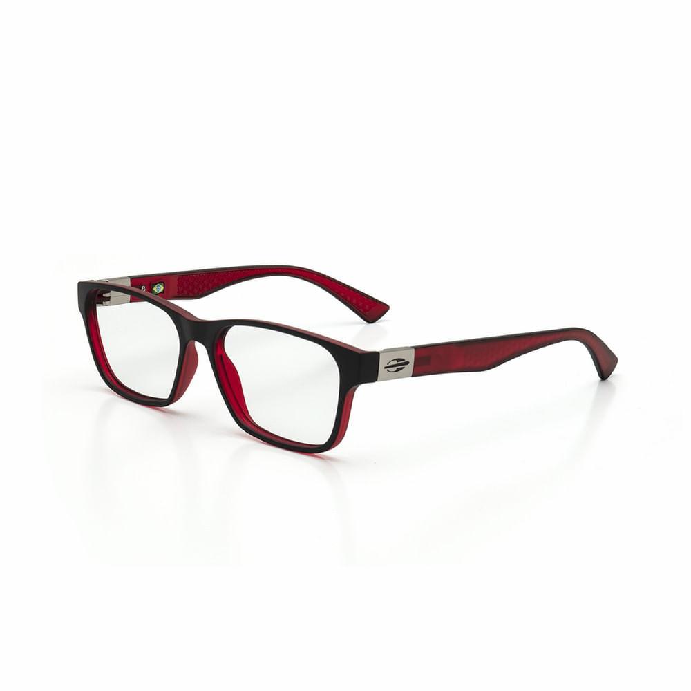 7dfe0271d317a Óculos de grau mormaii dhaka preto parede com vermelho fosco ...