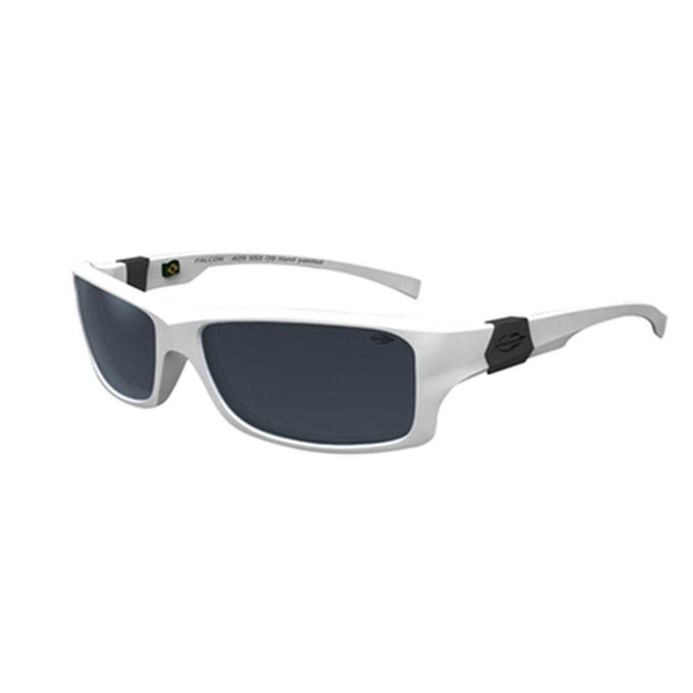 Óculos de sol mormaii falcon branco fosco lente cinza espelhada -  mormaiishop 804b044c76