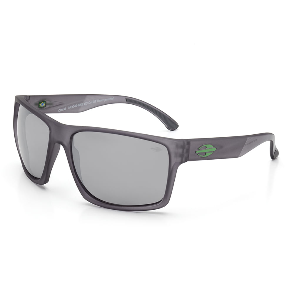 Óculos de sol mormaii carmel fume com logo verde lente cinza ... 936f42b947
