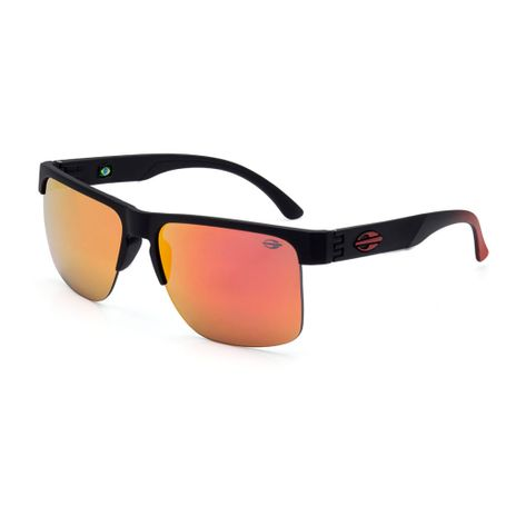 Óculos de sol mormaii monterey fly preto fosco com vermelho det. tra ... d2a0601671