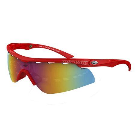 86a081c1aaac8 Óculos de sol mormaii athlon 2 vermelho tamp prata lente cinza fl vermel -  mormaiishop
