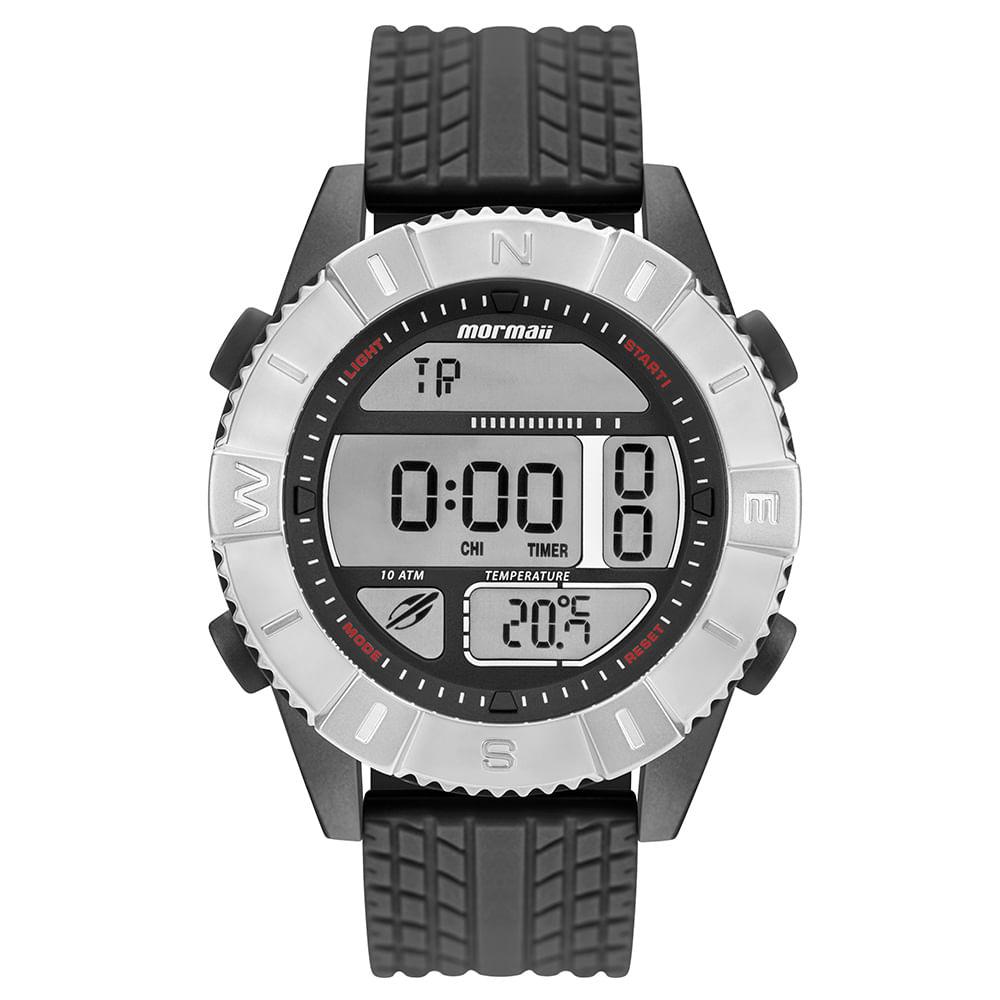 ad27f4c63d0 Relógio Mormaii Action Masculino Prata MO5334AC 8P - mormaiishop