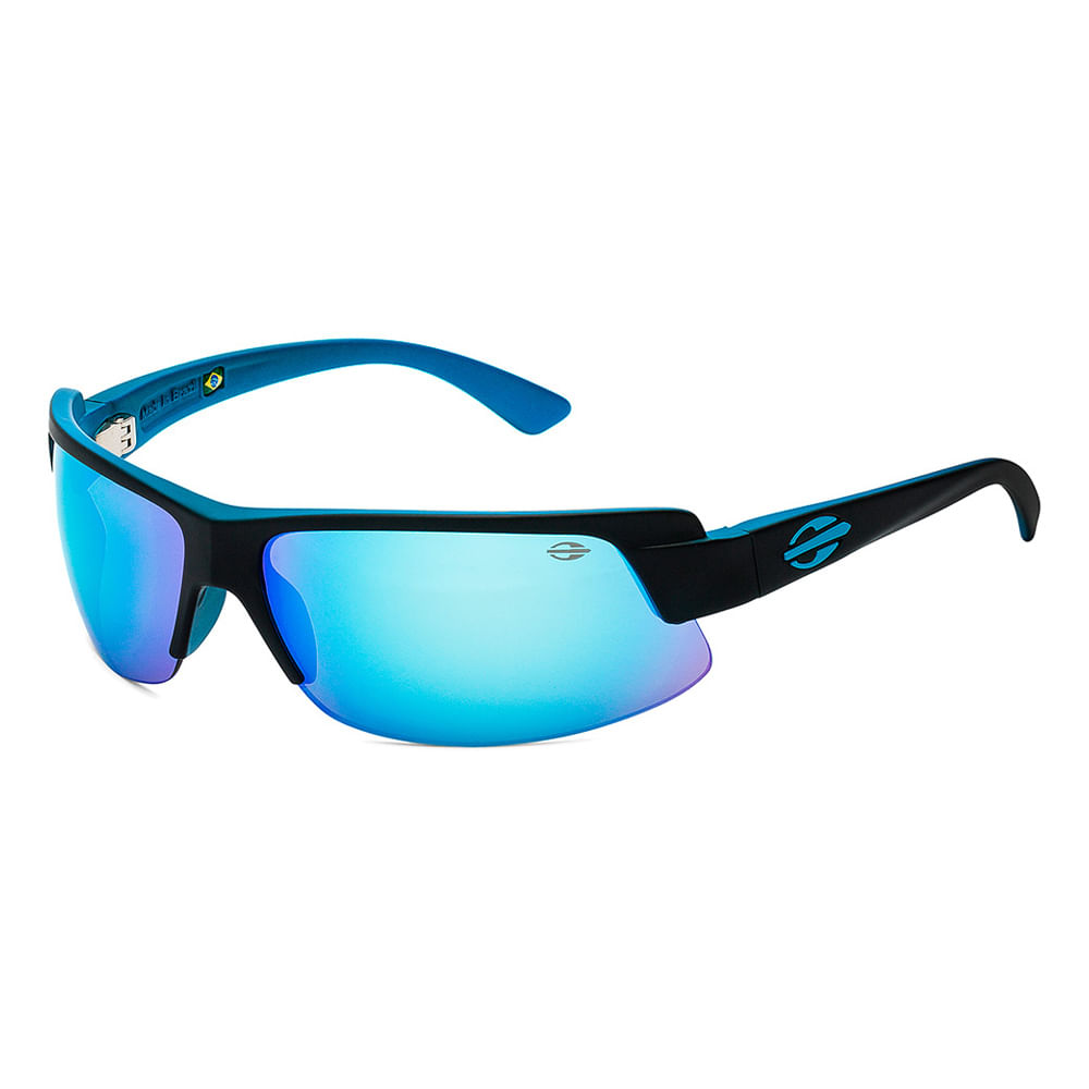 8318b36c7d6e6 Óculos de sol mormaii gamboa air 3 azul brilho lente cinza espelhada ...