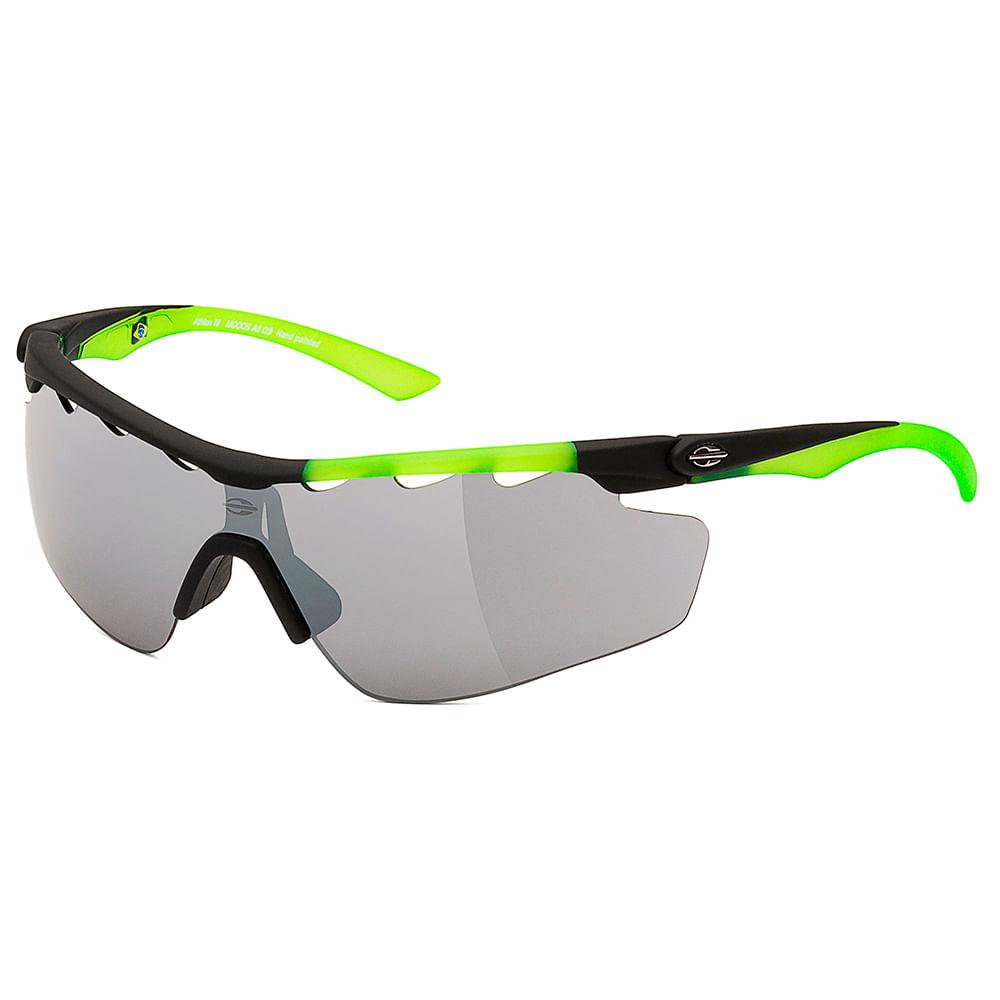 611b2e5bf9a3c Óculos de sol mormaii athlon 3 preto com verde TU