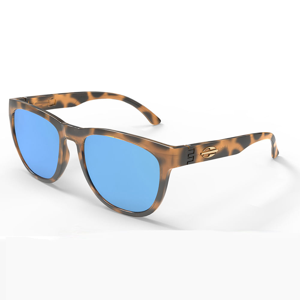 ca874a8543803 Oculos sol mormaii santa cruz demi marrom brilho lente revo azul ice