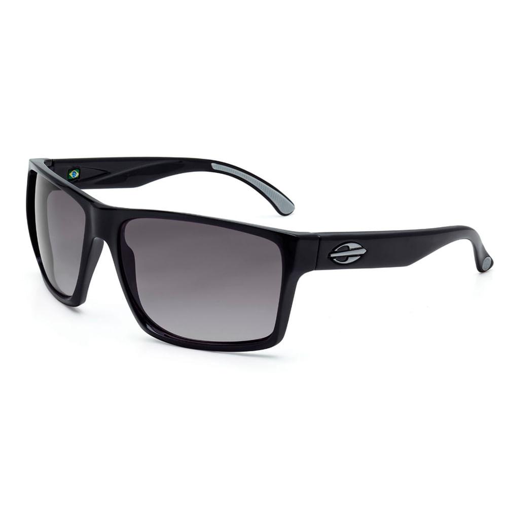 e912edfdf05e6 Óculos de sol mormaii carmel preto brilho lente cinza degradê ...