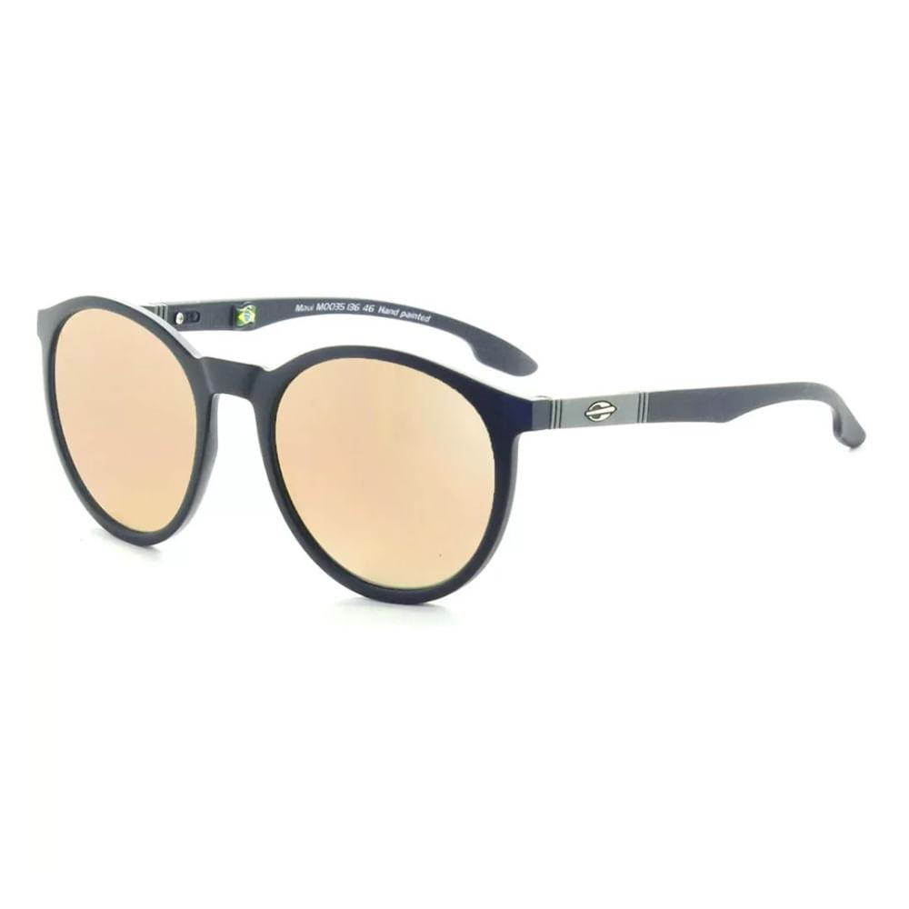 833f55c02f162 Óculos de sol mormaii maui by maya gabeira azul escuro fosco lente marrom  espelhada TU