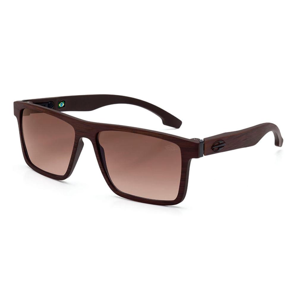 fec2f439e4283 Óculos de sol mormaii banks marrom madeira fosco lente marrom degradê TU