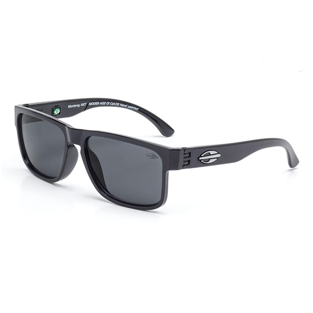 72b00c2581d75 Óculos de sol mormaii infantil monterey nxt preto brilho lente cinza ...