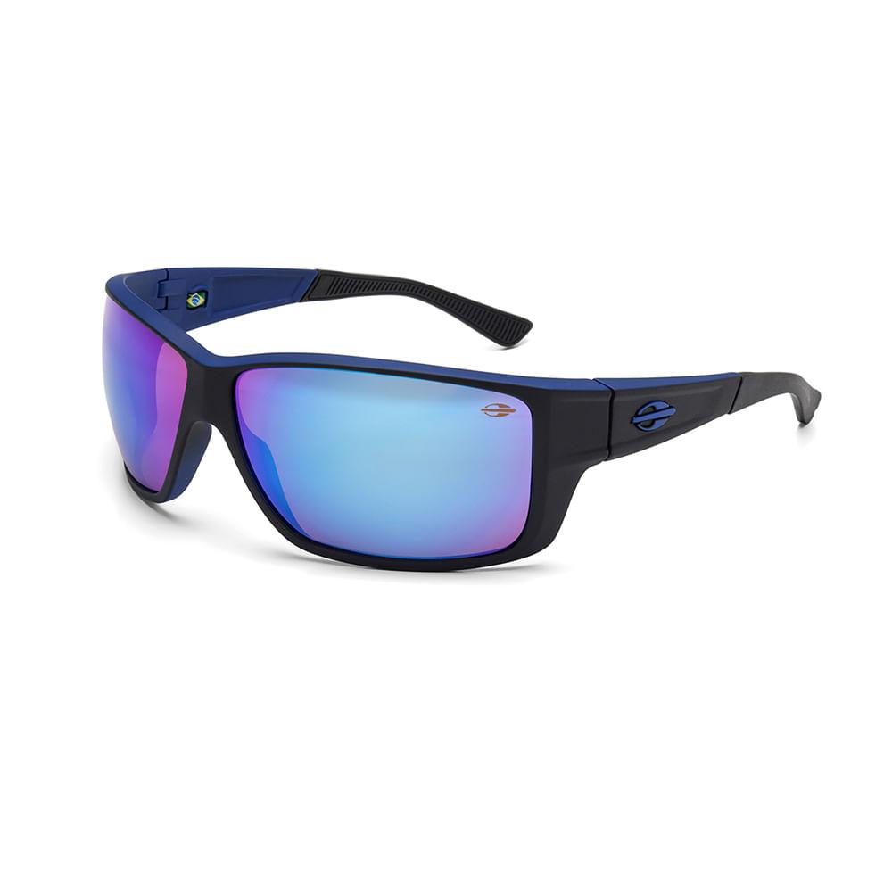 507eef0f47a7c Óculos de sol mormaii joaca 3 preto azul fosco lente azul espelhada ...