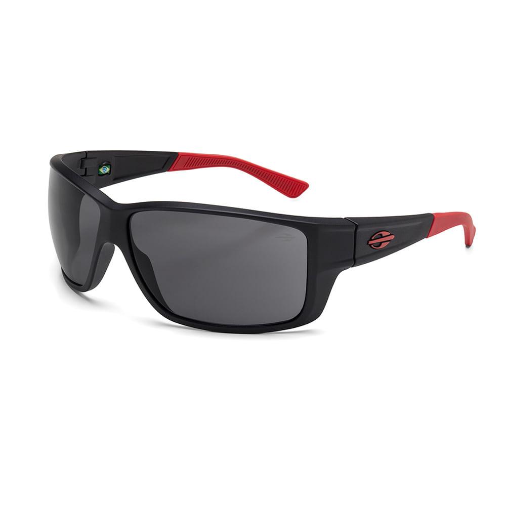 0c74fa9831e64 Óculos de sol mormaii joaca 3 preto fosco vermelho lente cinza ...