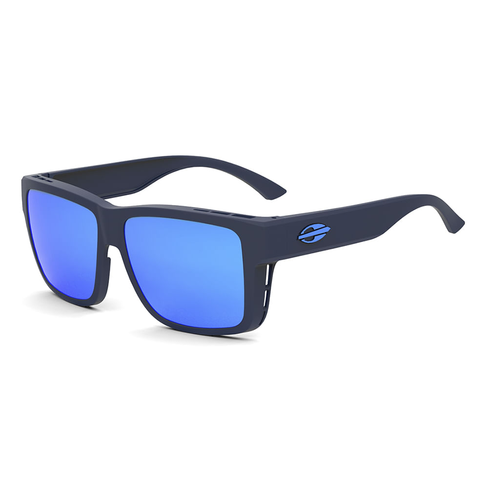 88614e7b55cf5 Óculos de sol mormaii overlap azul fosco lente azul polarizada ...