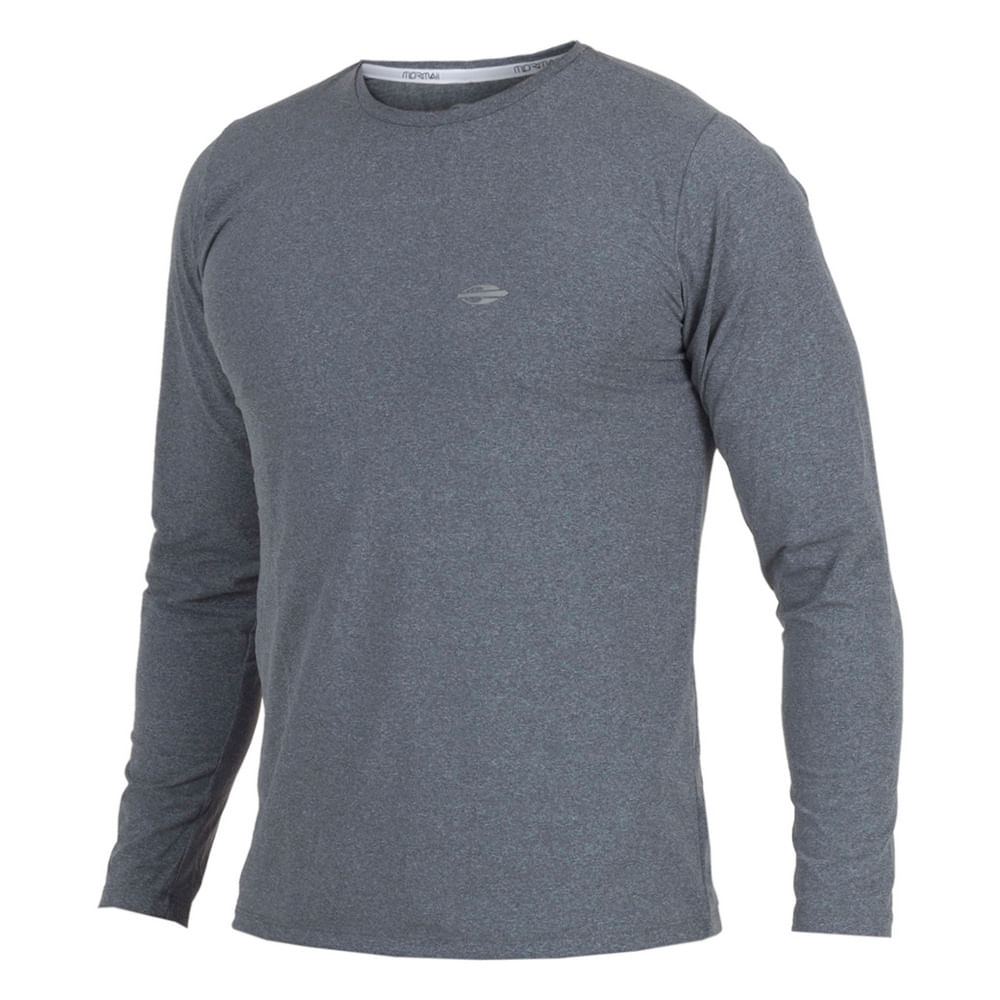 Camiseta manga longa mescla masculino uv dry flex - mormaiishop 820ed15cf9a51