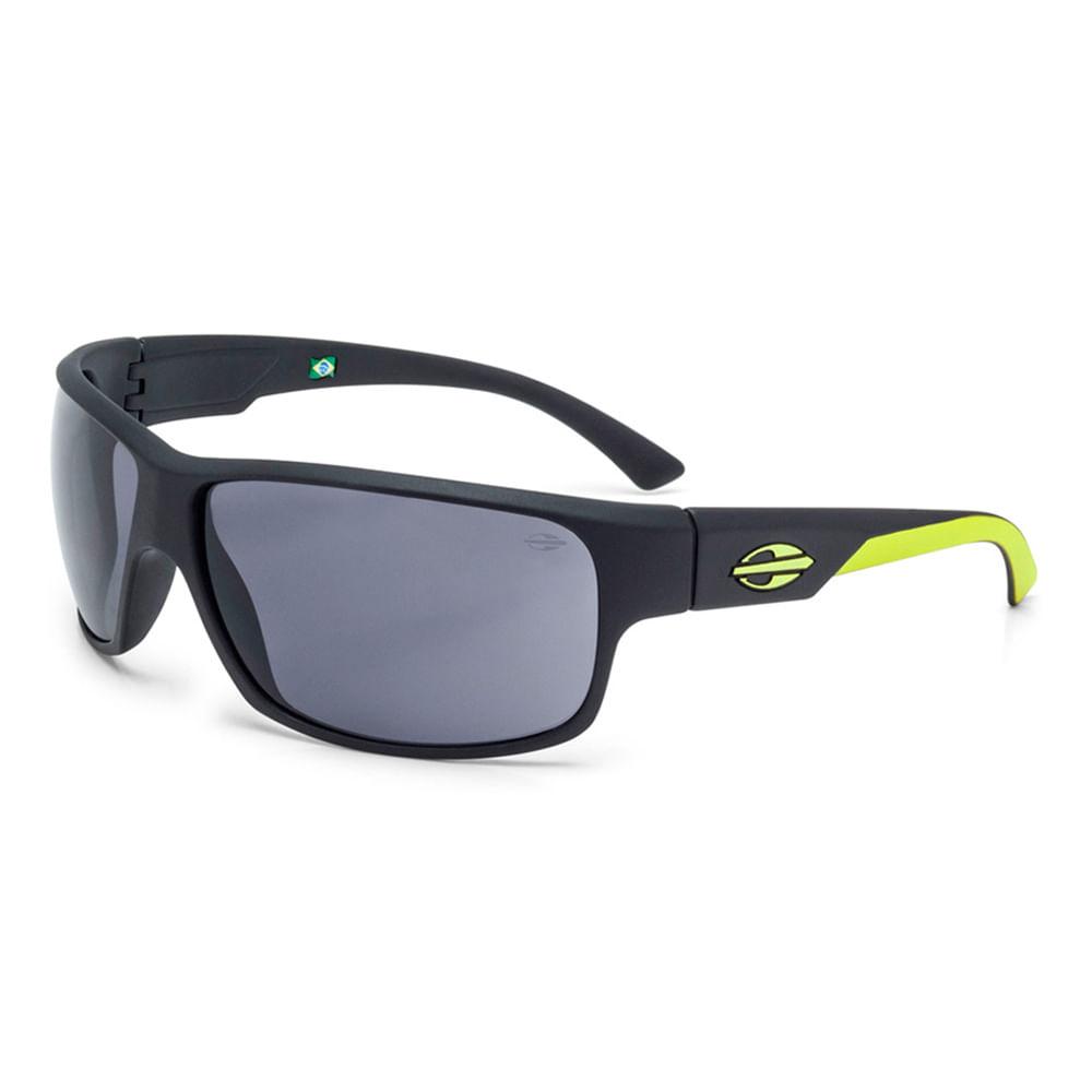 ce734e36e Óculos de sol mormaii joaca 2 preto fosco com amarelo limão lente cinza TU