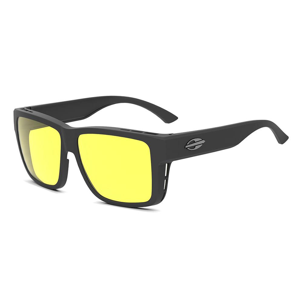 9c2946677 Óculos de sol mormaii overlap preto fosco amarelo polarizado ...