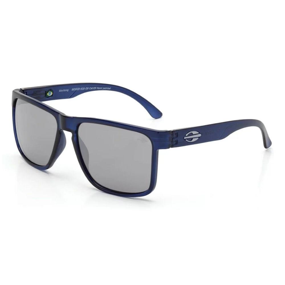 b83cac23c Óculos de sol mormaii monterey azul translucido lente cinza ...