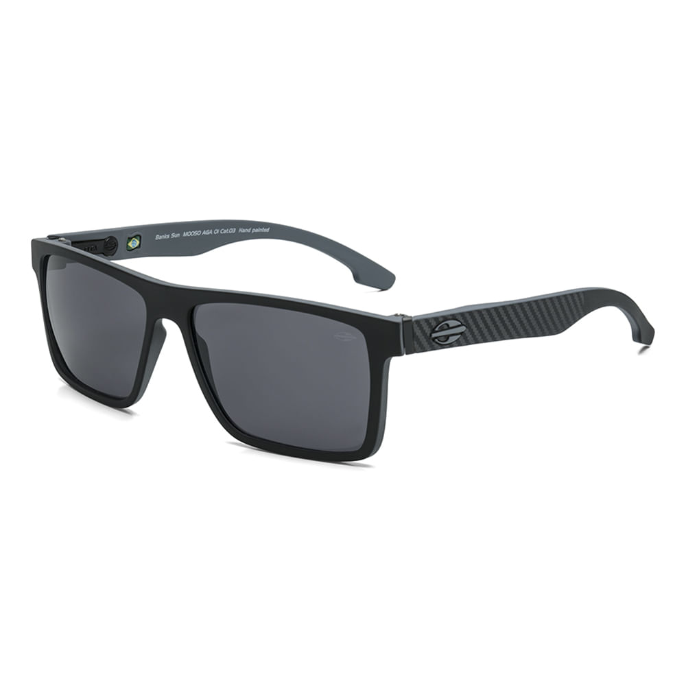 a8c6c0020 Óculos de sol mormaii banks preto parede cinza lente cinza - mormaiishop