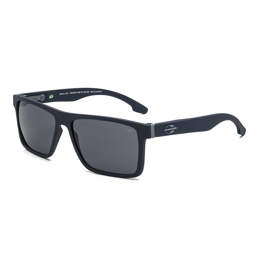 92adfc43f Óculos de sol mormaii banks azul escuro fosco lente cinza - mormaiishop