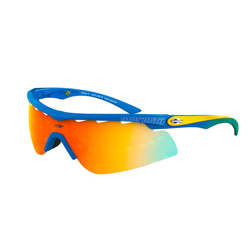 e788f48e8 Óculos de sol mormaii athlon 2 azul briho lente laranja espelhada ...