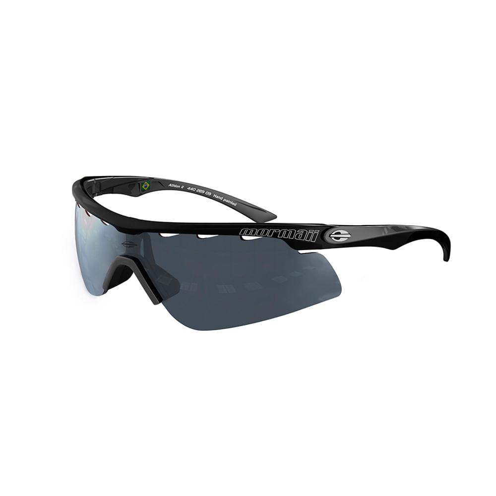 e65c44dcb Óculos de sol mormaii athlon 2 preto brilho lente cinza espelhada ...