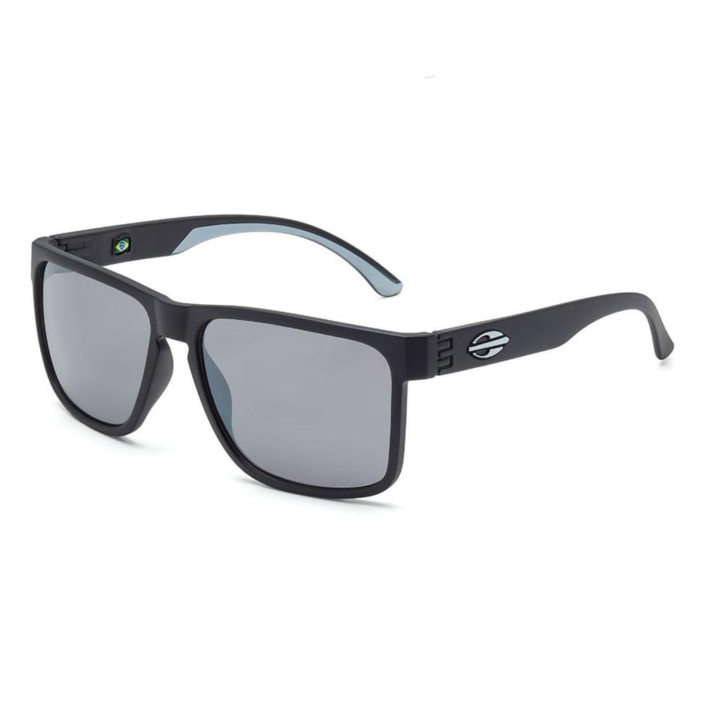499706e77 Óculos de sol mormaii monterey preto fosco com detalhe branco fosco lente  cinza fl prata TU