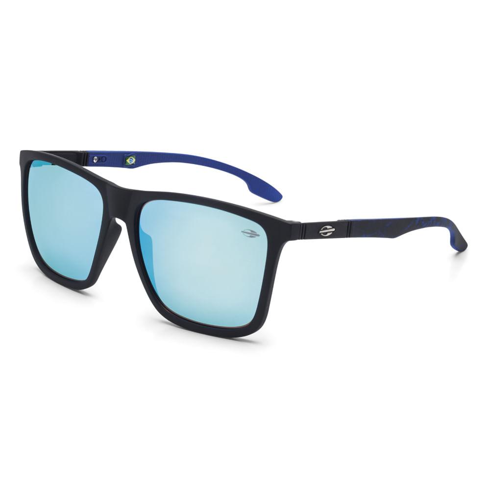 f138905be Oculos de sol mormaii hawaii preto fosco com azul - mormaiishop