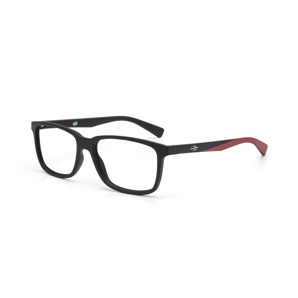 620389368 Óculos de grau mormaii manila preto fosco com vermelho - mormaiishop