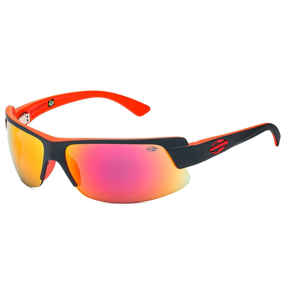 80c109da3 Óculos de sol mormaii gamboa air 3 vermelho brilho lente cinza espelhada