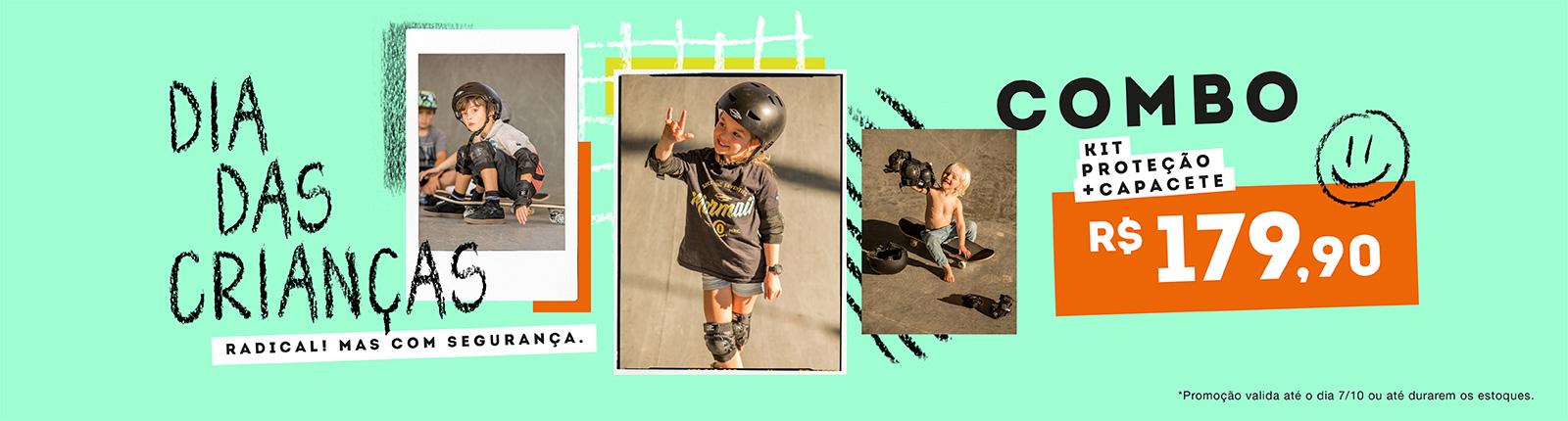Combo Skate dia das crianças