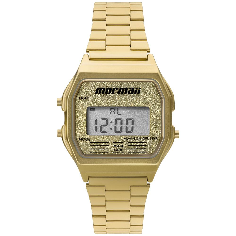 2a917f1743b Relógio Feminino Mormaii Vintage Dourado - MOJH02AD 4B - mormaiishop