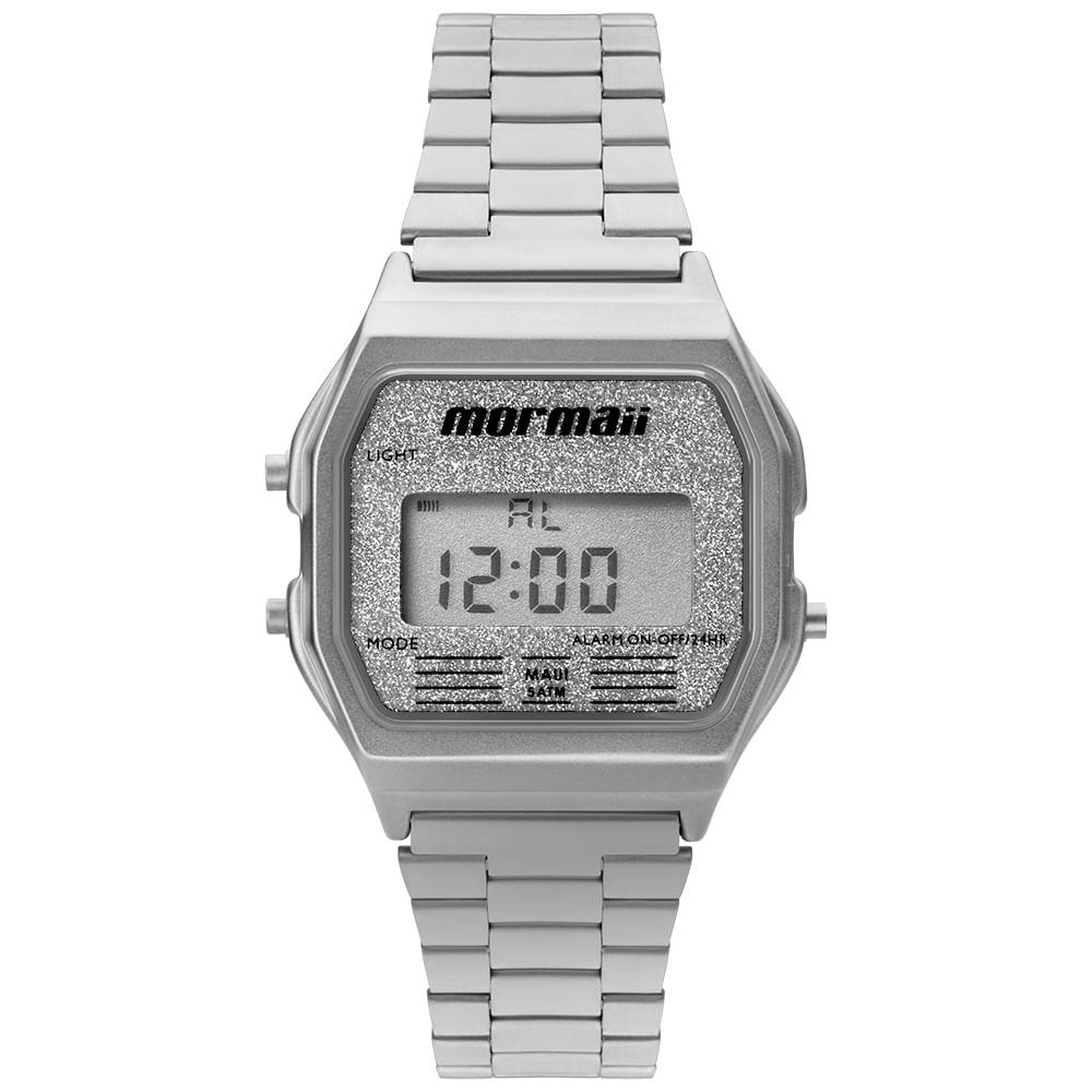 df5b69ffb9ba9 Relógio Feminino Mormaii Vintage Prata - MOJH02AE 3B - mormaiishop