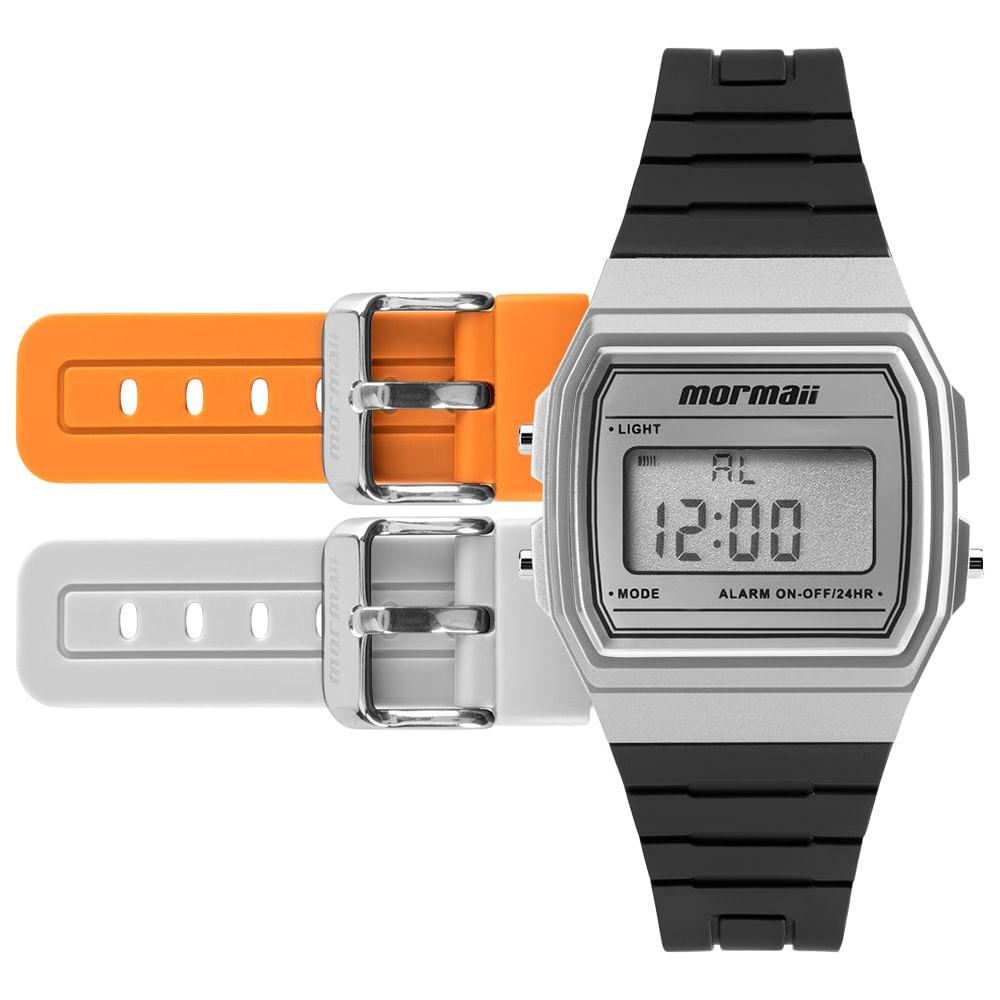 e0aa010930ca1 Relógio Mormaii Troca Pulseira Vintage Freestyle Prata - MOJH02AG 8K ...