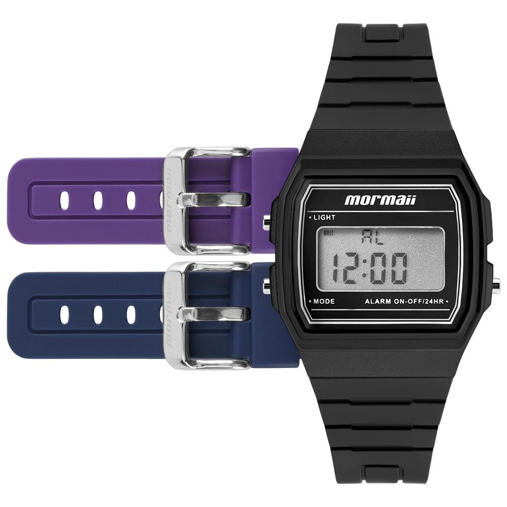 f2be292eec277 Relógio Mormaii Troca Pulseira Vintage Freestyle Preto - MOJH02AH 8P ...