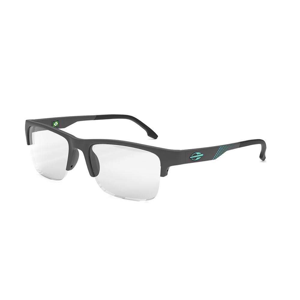 Óculos de grau mormaii cusco cinza escuro fosco