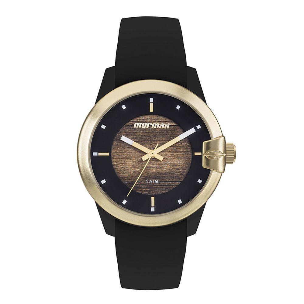 Relógio mormaii feminino luau preto - mo2035jl/8m