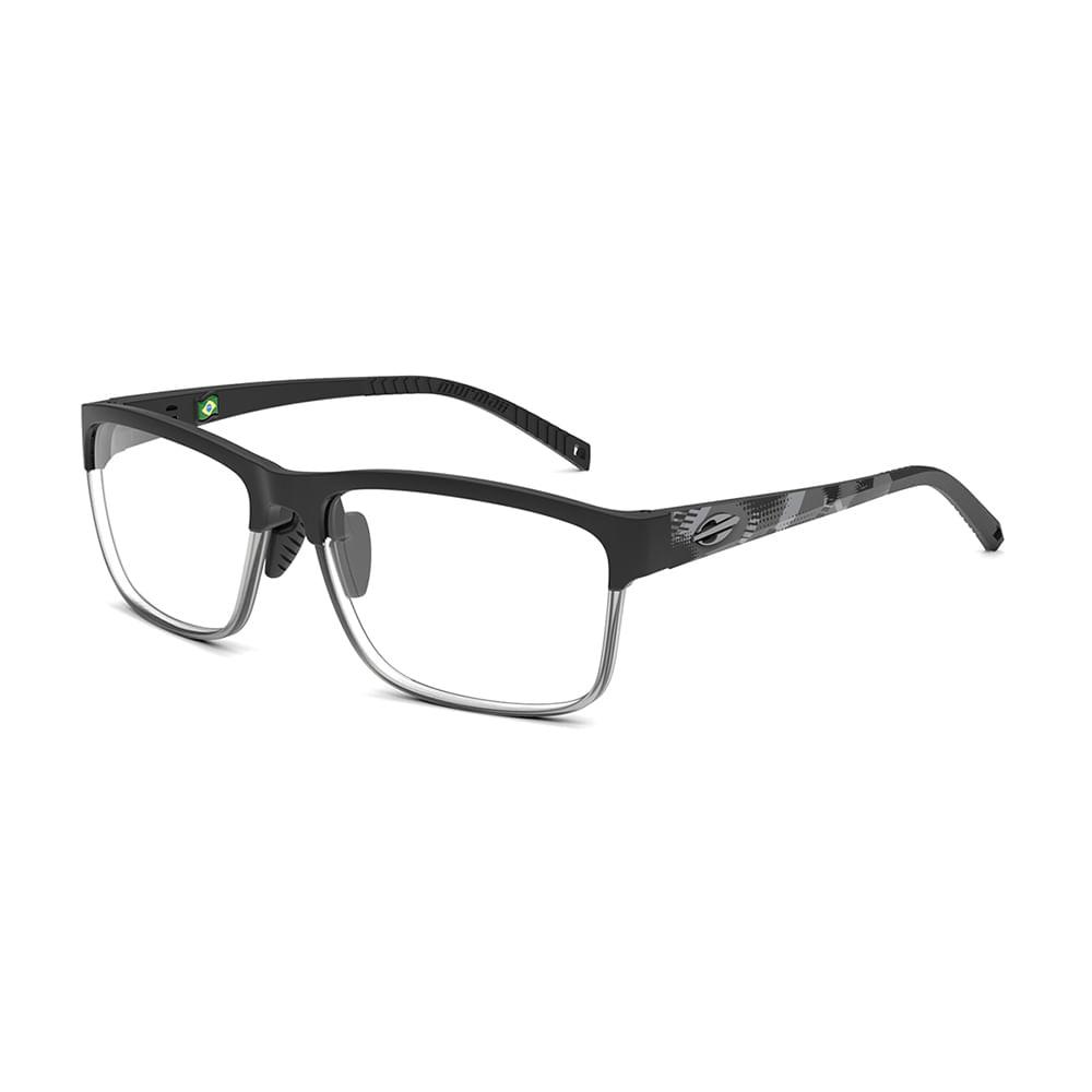 Óculos de grau mormaii denver preto degradê fume fosco