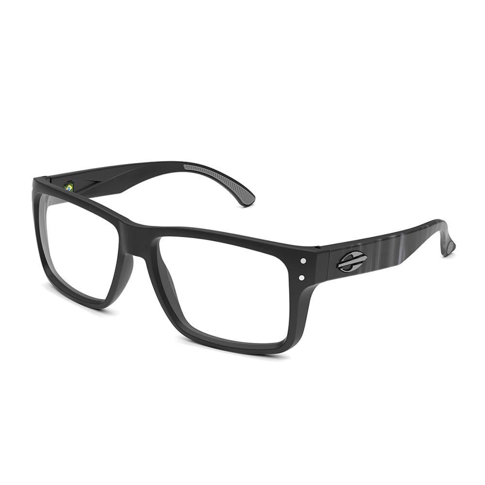 Óculos de grau mormaii mumbai rx preto fosco com branco